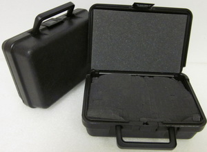 28-7496 Blow Molded Case  ID: 8.50 L x 5.5 W x 2.72 D Lid .50 Base 2.22