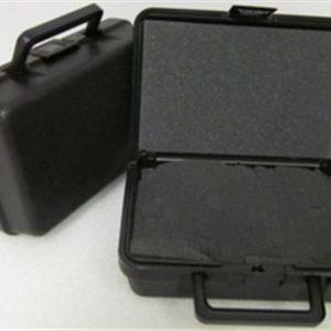 28-7499 Blow Molded Case  ID: 9.50 L x 6.0 W x 2.69 D Lid .59 Base 2.10